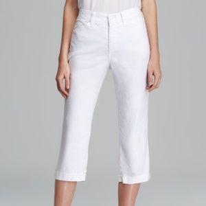 NYDJ W58G18DT Tatum Linen Crop Pants ~ Sz 22W